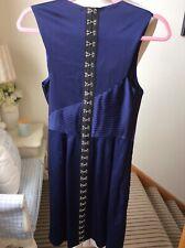 WHISTLES Purple Pleated Drape Dress UK8 EU36 US4 Wedding Guest Exposed Buckle