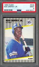 Ken Griffey Jr. 1989 Fleer #548 - RC - Seattle Mariners - PSA 9 - Mint