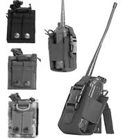 Outdoor Military Molle Radio Walkie Talkie Holder Bag Pouch Rack Security Guard