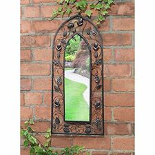 Enchanted stunning Garden Mirror Floral Desgin Stainless steel  Easy To Hang
