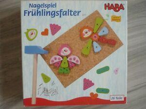 Haba 2377  Nagelspiel Frühlingsfalter 26 Teile Kinderspiel