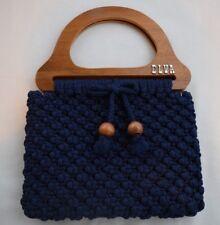 Elva Crotchet Wood Handle Clutch Handbag