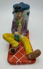 Vintage Emmett Kelly Drunk Again Signature Collection Flambro Figurine It/485
