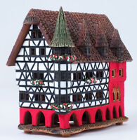 """Ceramic candle holder """"Town hall in Fulda, Germany"""". Handmade by © Midene"""