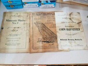 Minnesota Binder #2/McCormick Corn Harvester/John Deere Cylinder Loader (3 Total