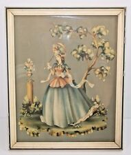 VTG Victorian Fine Lady Lithograph Print Framed S.Colef-Style Art Shabby Chic
