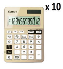 10 X Canon Ls-123k Dual Power Desktop Calculator With Tax Function 12 DIGIT