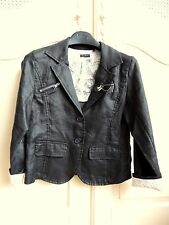 IKKS Black linen girls light jacket size 10