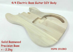 Electric Bass Guitar Body,Solid Basswood,w/Pre-Cut,Polished,Drilled HSPB 1910BO