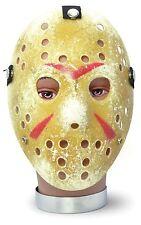 Gold Jason Vorhees Hockey Mask Halloween Fancy Dress Accessory