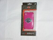 HARLEY DAVIDSON MOTORCYCLES Pink Blackberry Curve Cell Phone Shell Cas