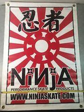 New listing Ninja Skate Products Bearings Banner Poster 24� X 34� Rare Skateboard