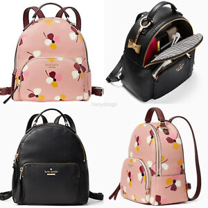 Kate Spade Jackson Medium Pebbled Leather Backpack Pink Floral