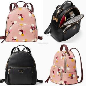 Kate Spade Jackson Medium Pebbled Leather Backpack Pink Floral