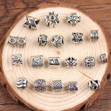 19 Tibetan Silver Mixed Dreadlock Dread Hair Beads 5mm Hole Decor Clip Cuff