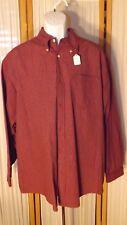 M19  Men's XL Wrangler Red Plaid Long Sleeve Button Collar Shirt Button Collar