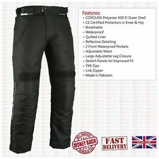 BLACK Waterproof Motorbike Motorcycle Trouser Thermal Biker Trousers Armour Pant