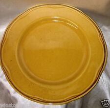 """SABATIER CANNES GOLD DINNER PLATE 11 1/8"""" SPECKLED GOLD MUSTARD"""