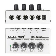 HA400 4 Channels Stereo Headphone Amplifier Amp For Recording Studio Music Mixer