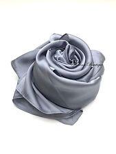 Plain Satin SQUARE Hijab plain scarf wrap occasion Party sheen turkish style