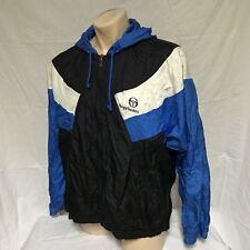 VTG Sergio Tacchini Windbreaker Jacket 80s Track Coat Colorblock Jogging Ski 46