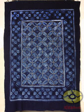 "Handmade Indigo Tie Dye Rural Style Tablecloth Table Cover Tapestry 78""L x 55""W"