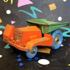 Benbros Qualitoy Diecast Vintage Muir Hill Dumper Truck Orange & Green #2477