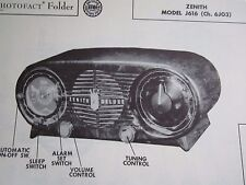 ZENITH J616 RADIO PHOTOFACT