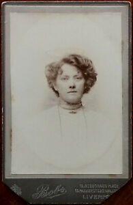 Bobs Gt. Georges Place & Parker St. Liverpool Large CDV Photograph of a Woman