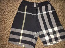Infant Toddler Boys Black White Nova Check Burberry Shorts 12-18-24 Months