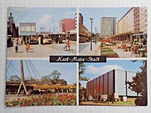 AK Karl-Marx-Stadt Ansichtskarte DDR 1972 gelaufen Mehrbild - AK