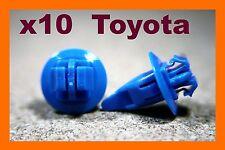 10 toyota mud guard fender flare jupe fastener moulage clip bleu
