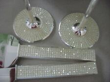 DISCONTINUE Wedding Toasting Glasses Flutes Cake Knife Server Set  Crystal Bling