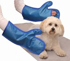 New X Ray Protection Vet Mitts Color Blue Model 20802