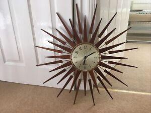 Seth Thomas Sunburst Wall Clock Working order