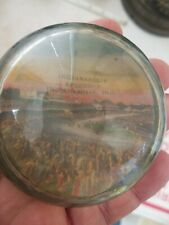 Vintage Glass Paperweight Indianapolis Speedway Early One