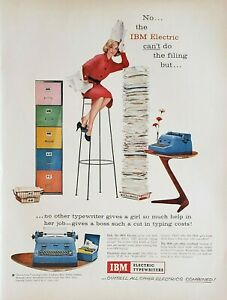 Lot of 4 IBM Electric Typewriter Vintage Ads Advertisements