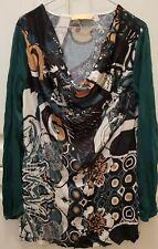 Biba by Escada   Shirt Bluse langarm  Crash Optik Größe  L 40 42  TOP