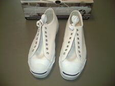 Brand New Converse Jack Purcell Low White Canvas Men's 9.5, Made in U.S.A.