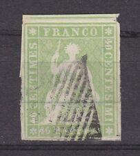 """Schweiz - 1854, MiNr. 17Ib, gest. - 40 Rp. """"Sitzende Helvetia"""", Befund Marchand"""