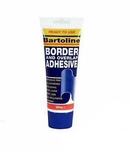 New Bartoline Border Overlap Adhesive Tube Wallpaper Vinyl Repairs Fix 250GM