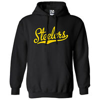 Steelers Script & Tail HOODIE - Hooded School Sports Team Sweatshirt  All Colors