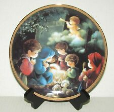 Precious Moments Come Let Us Adore Him Collector Plate - Hamilton Collection