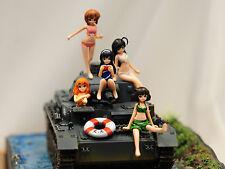 [free shipping](W_2162)1/32 Girls Und Panzer Ankou Team Set Unpainted Resin Kit