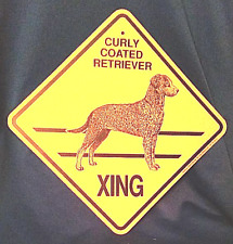 Curly Coated Retriever Xing Dog Sign