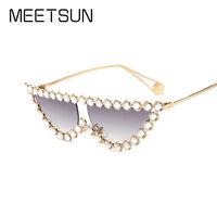 Luxury Sunglasses Women Fashion Cat Eye diamond Sun Glasses Women Sunglasses UV