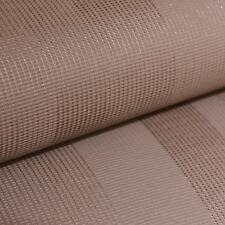 Rasch Chocolate Brown Plain Stripe Textured Vinyl Paste The Wall Wallpaper