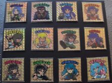 SAINT SEIYA COMPLETE SET 12 GOLD SAINTS JAPANESE STICKERS BIKKURIMAN STYLE