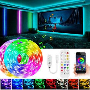 10M 15M 20M Bluetooth LED Strip Light 5050 SMD Flexible LED Lamp Tape RGB Lights