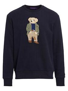 Ralph Lauren Purple Label Bedford Preppy Bear Fleece Sweatshirt Sweater New $895